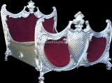 Rococo Ornately Carved French Bed